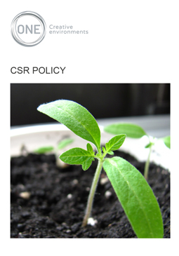 CSR Policy - Front Page