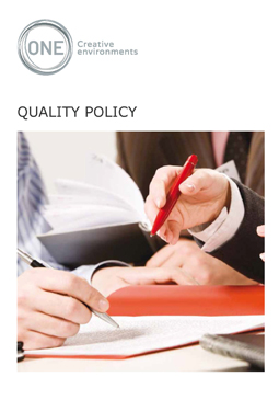 Quality Policy - Front Page